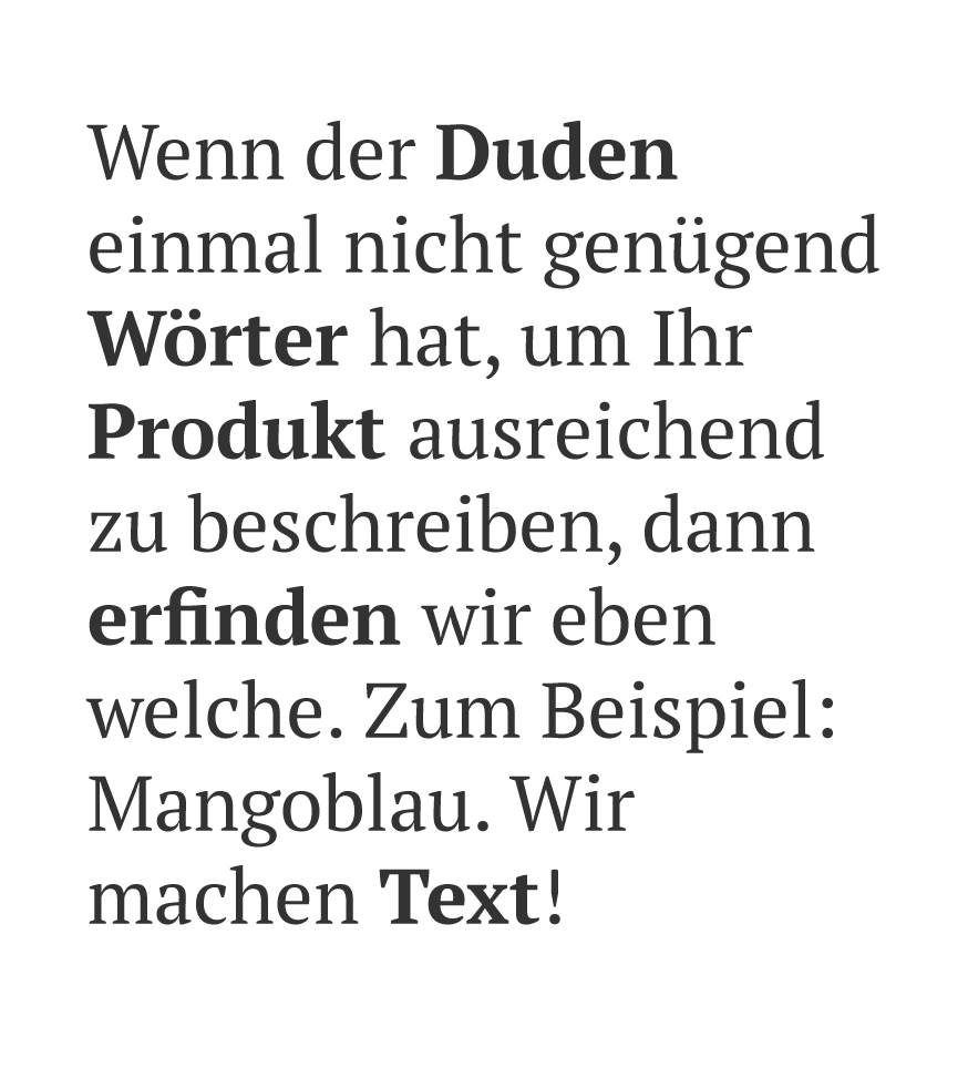 Text & Wort