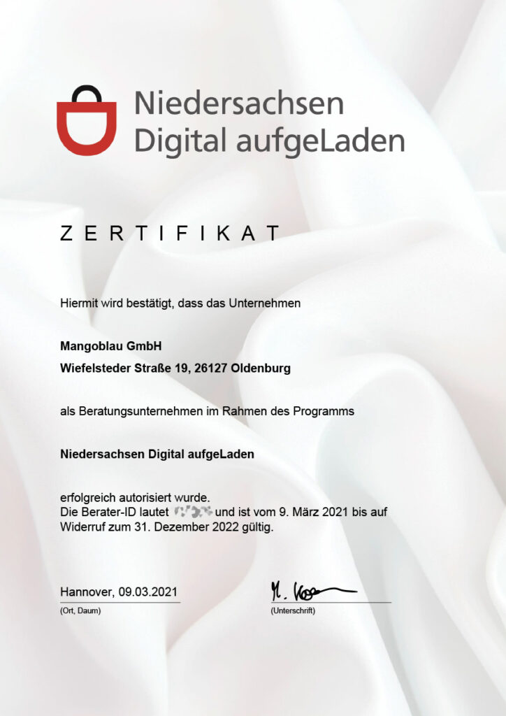 Zertifikat Digital aufgeLaden